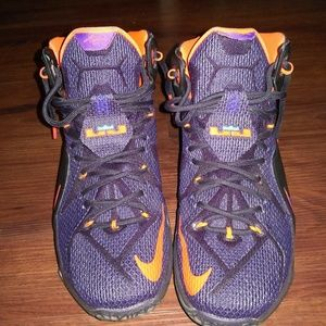 Lebron 12 Purple and Orange Colorway.